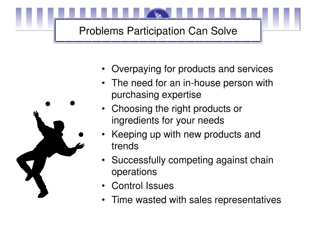 Problems Participation Can Solve