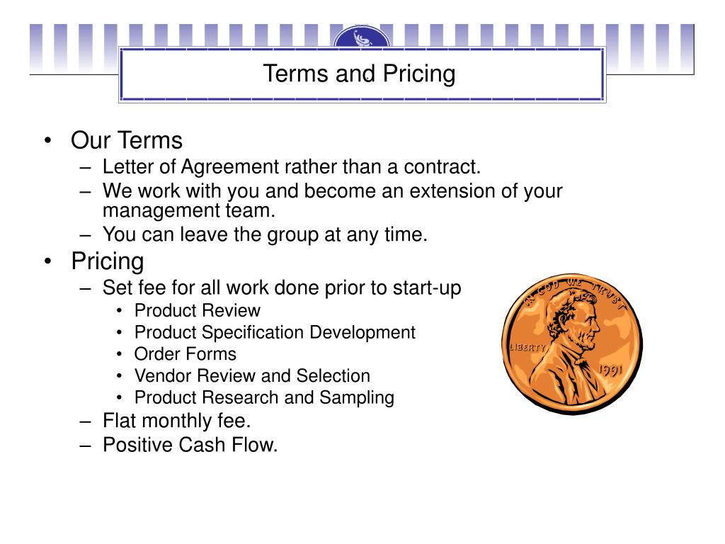 Terms and Pricing
