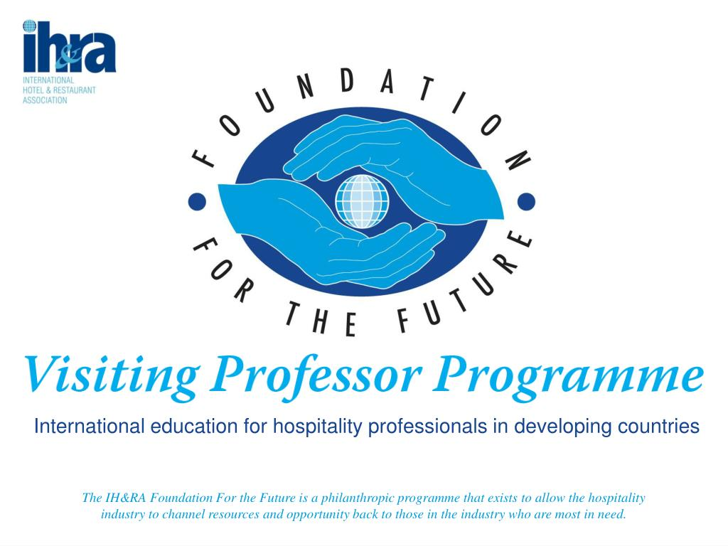 The IH&RA Foundation For the Future is a philanthropic programme that exists to allow the hospitality industry to channel resources and opportunity back to those in the industry who are most in need.