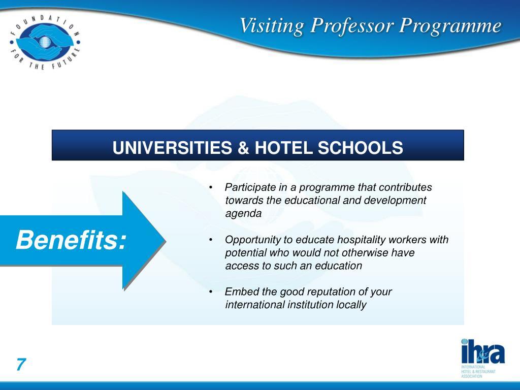 UNIVERSITIES & HOTEL SCHOOLS