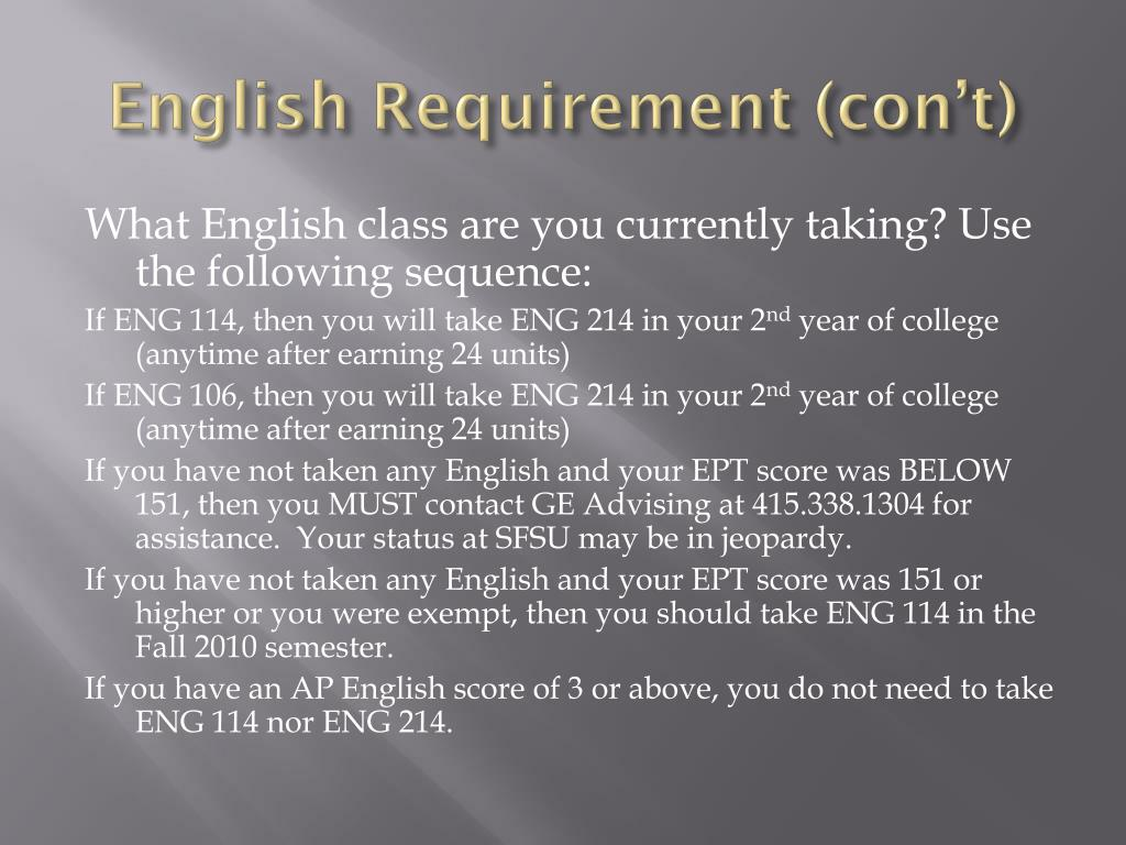 English Requirement (
