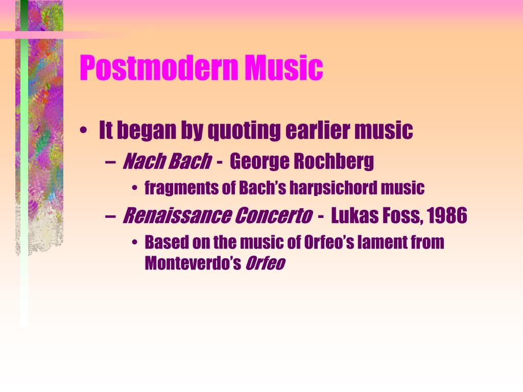 Postmodern Music