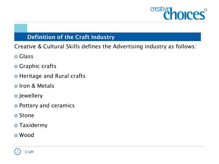 Definition of the craft industry