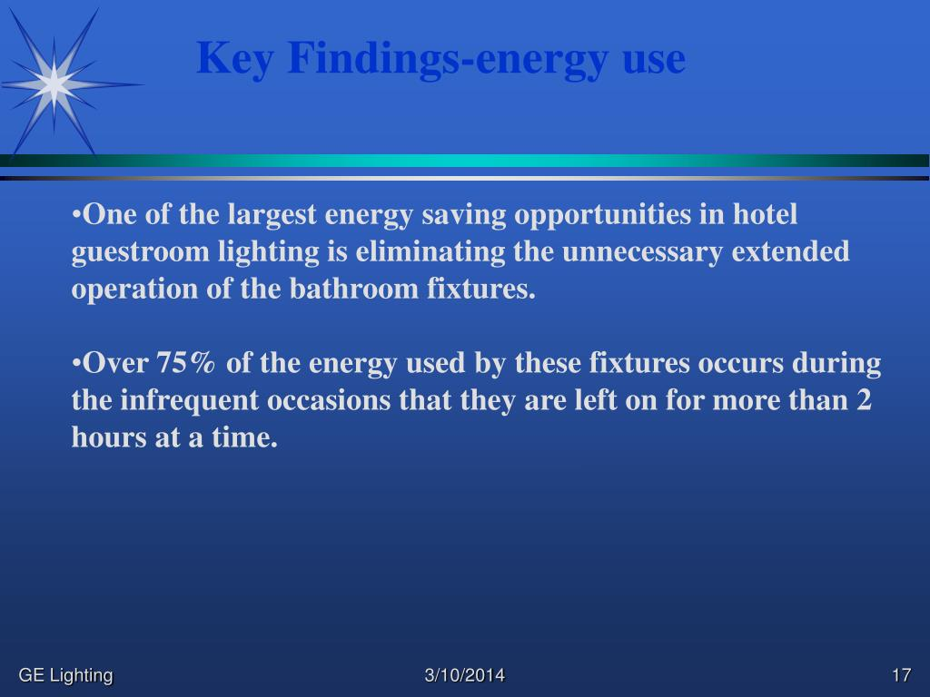 Key Findings-energy use
