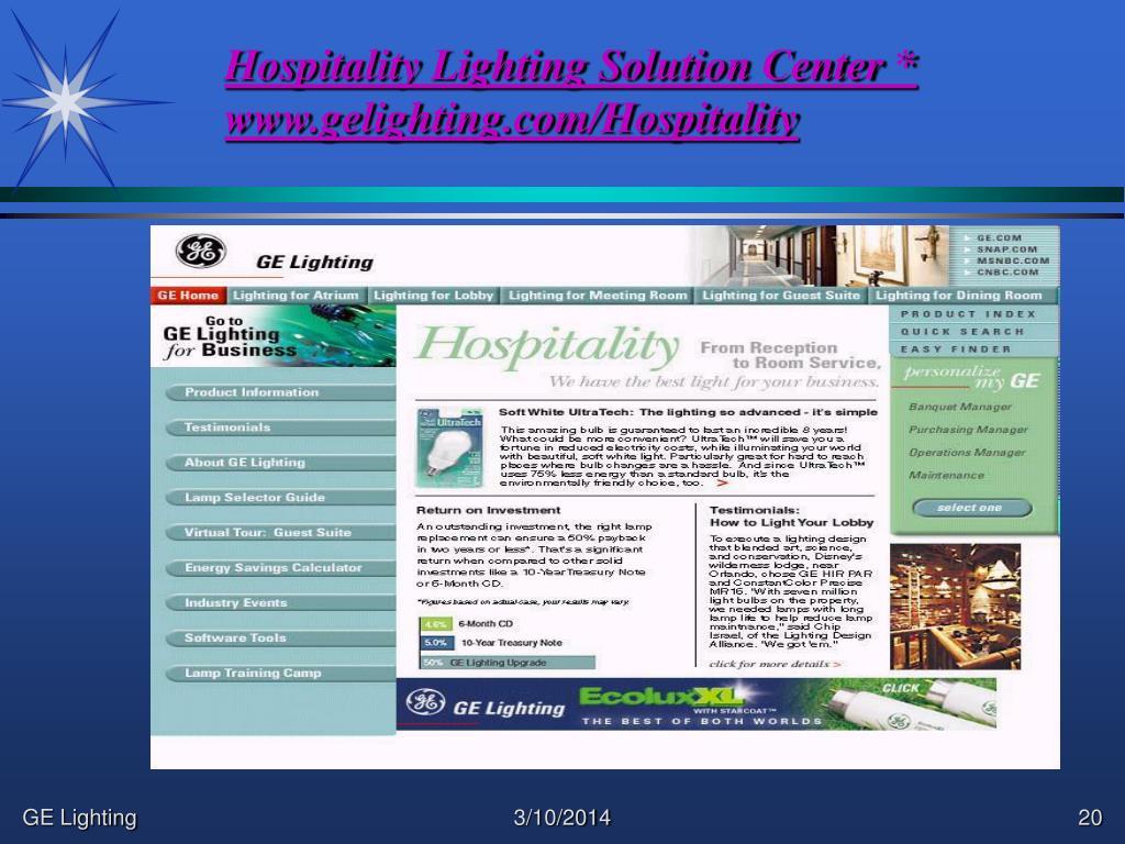 Hospitality Lighting Solution Center *