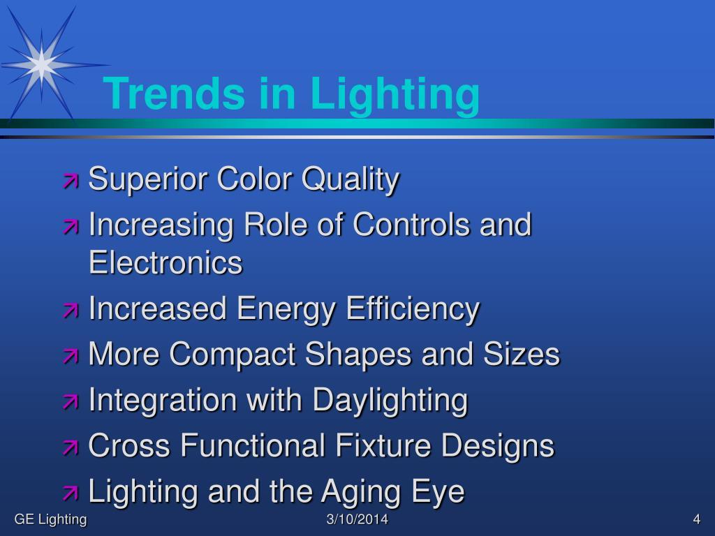 Trends in Lighting
