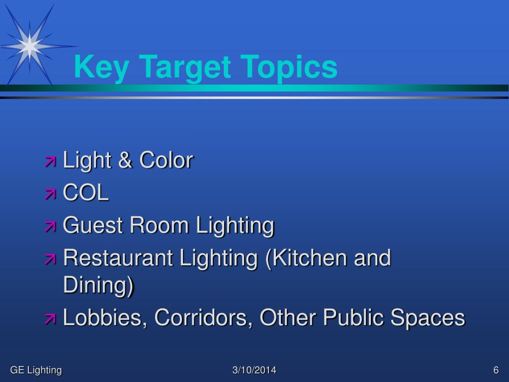 Key Target Topics