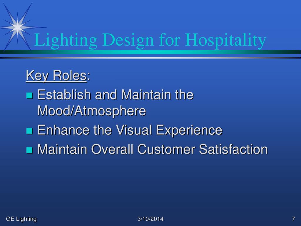 Lighting Design for Hospitality