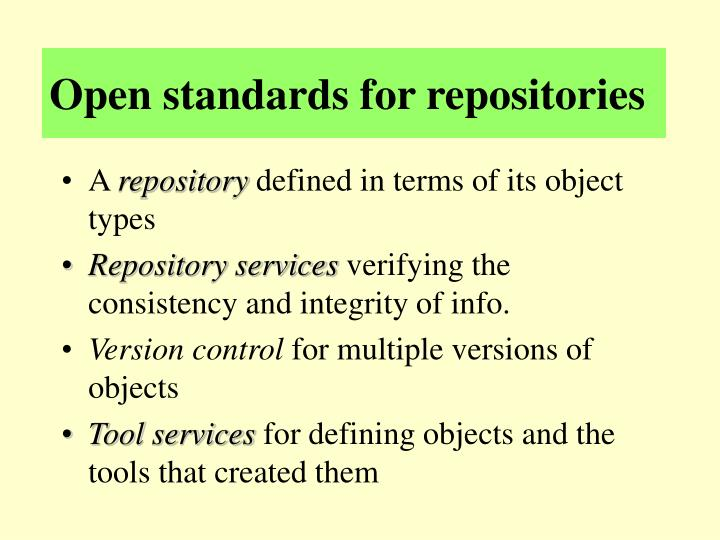 Open standards for repositories