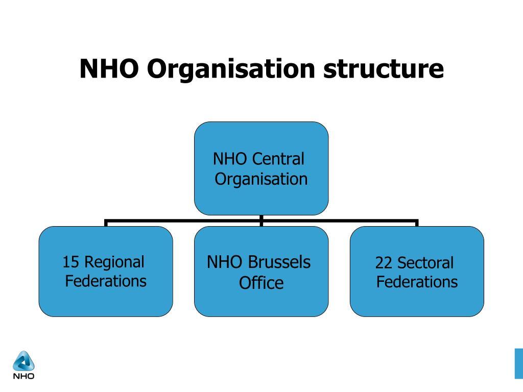 NHO Organisation structure