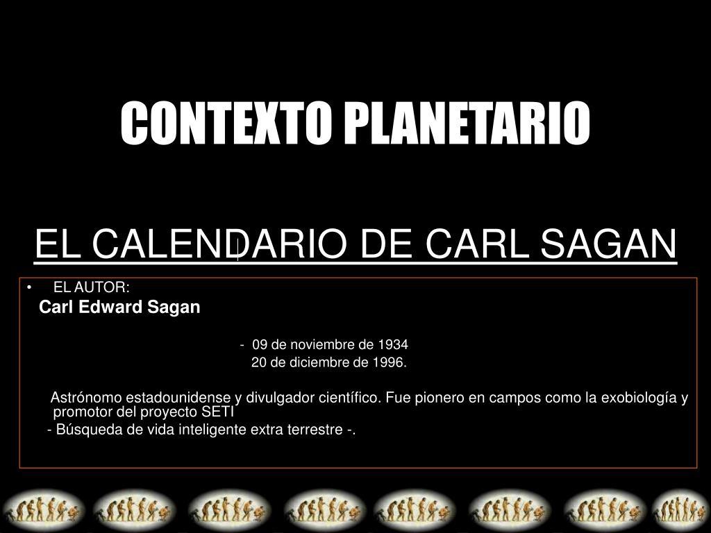 EL CALENDARIO DE CARL SAGAN