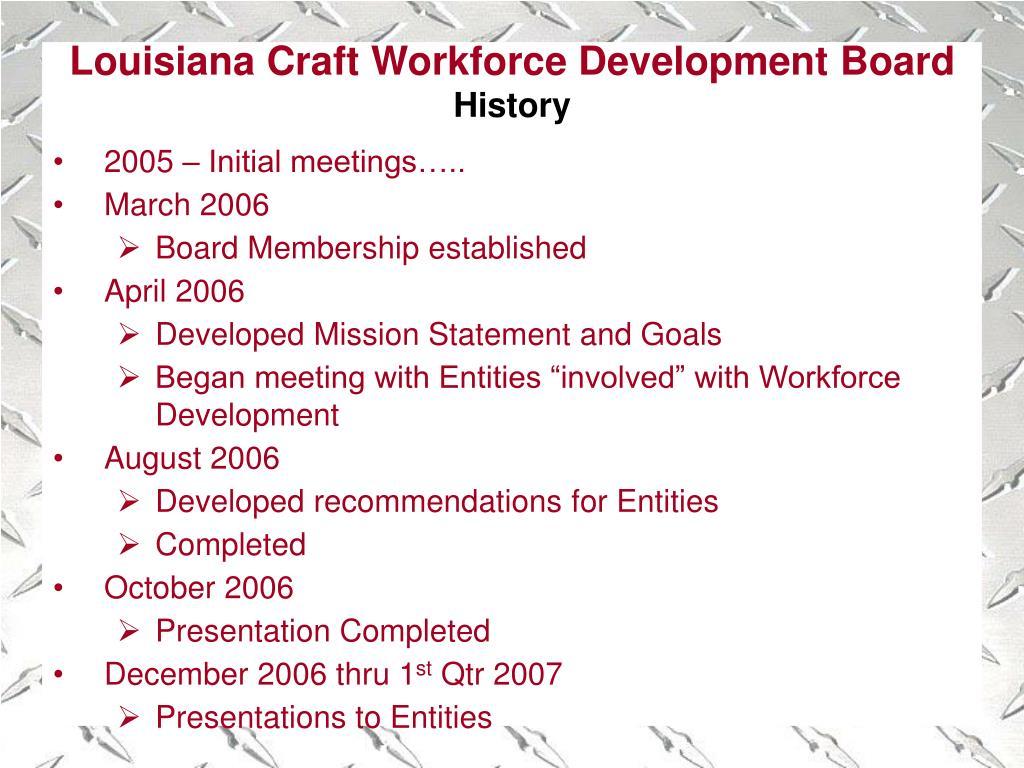 Louisiana Craft Workforce Development Board