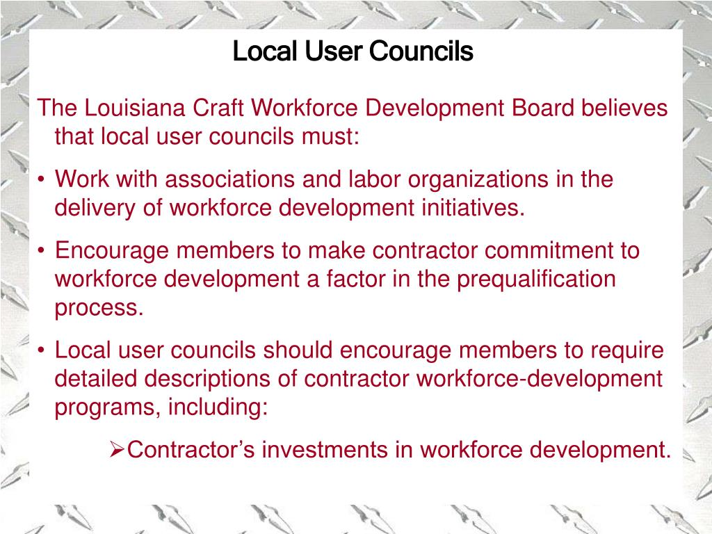 Local User Councils