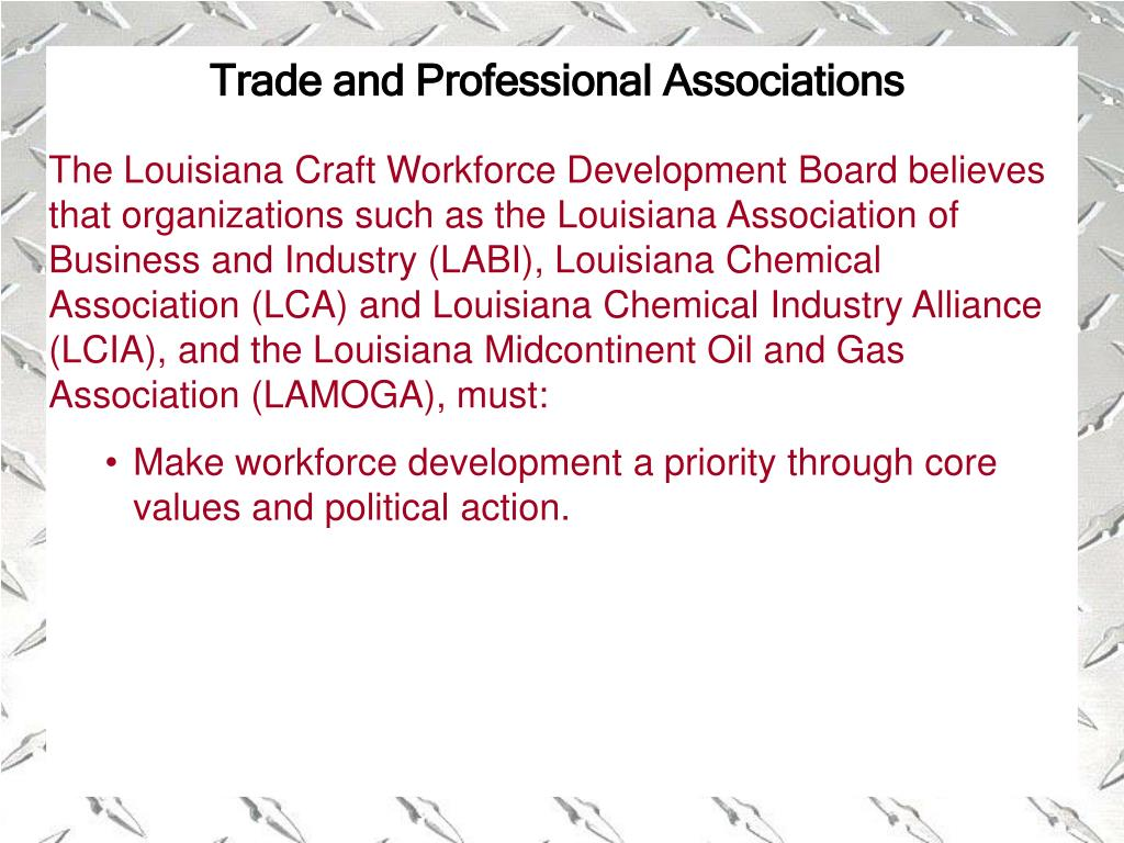 Trade and Professional Associations