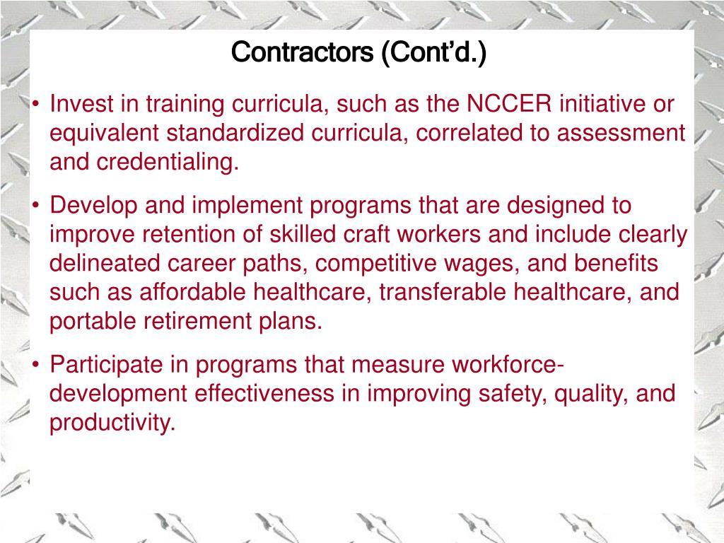 Contractors (Cont'd.)