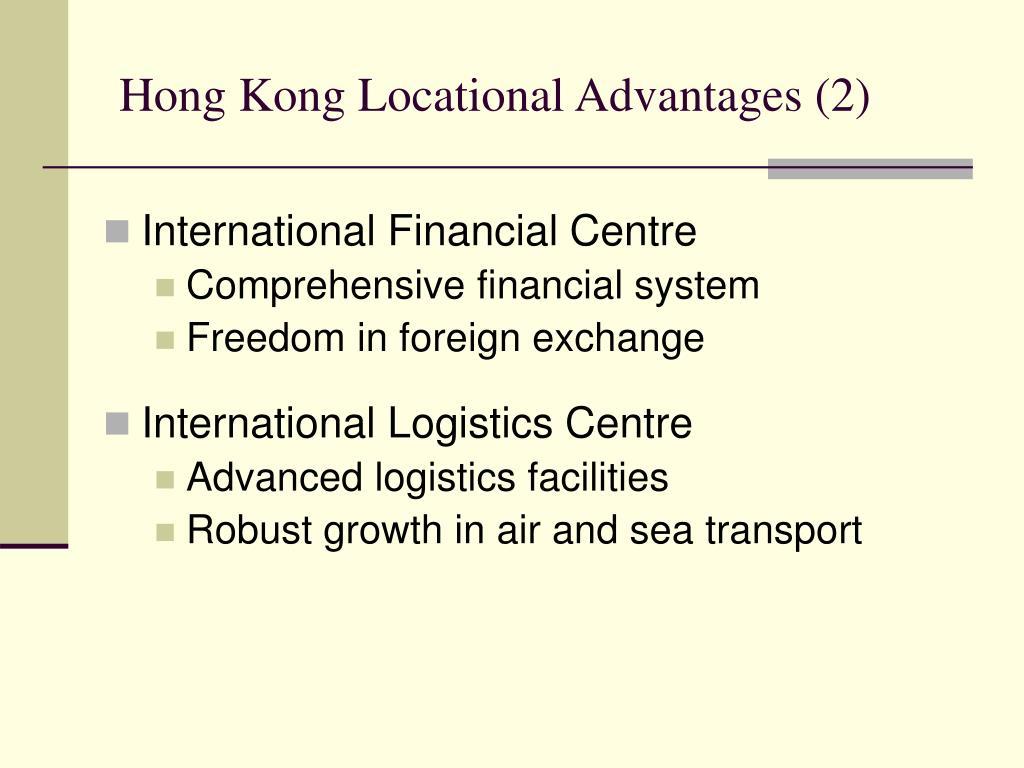 Hong Kong Locational Advantages (2)