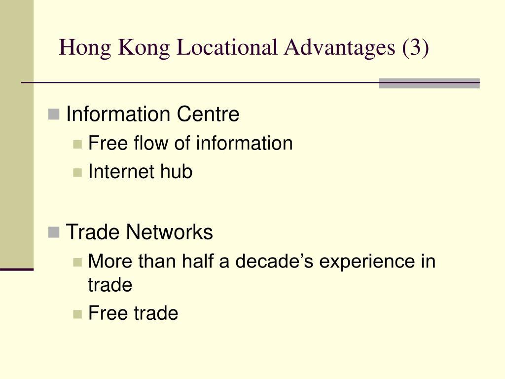 Hong Kong Locational Advantages (3)