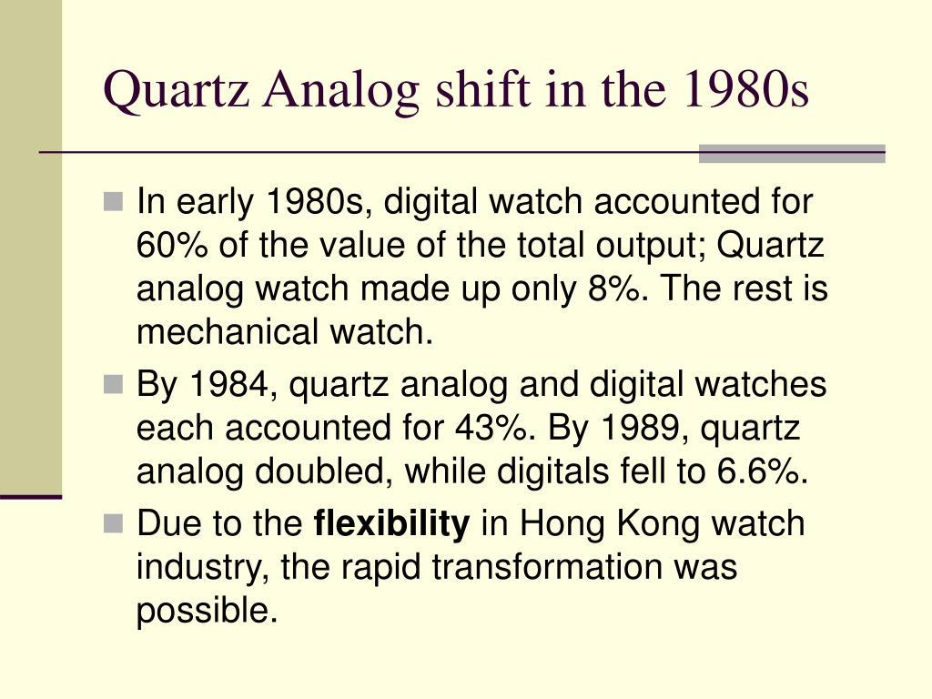 Quartz Analog shift in the 1980s