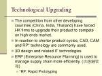 technological upgrading
