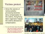 victims protest