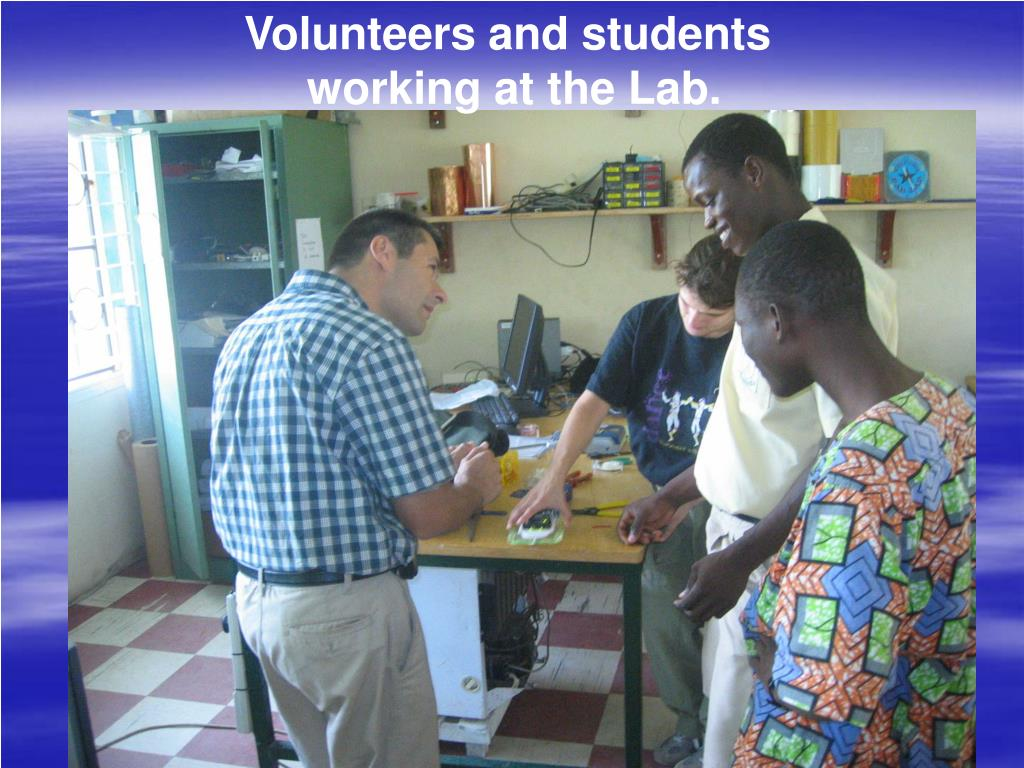 Volunteers and students