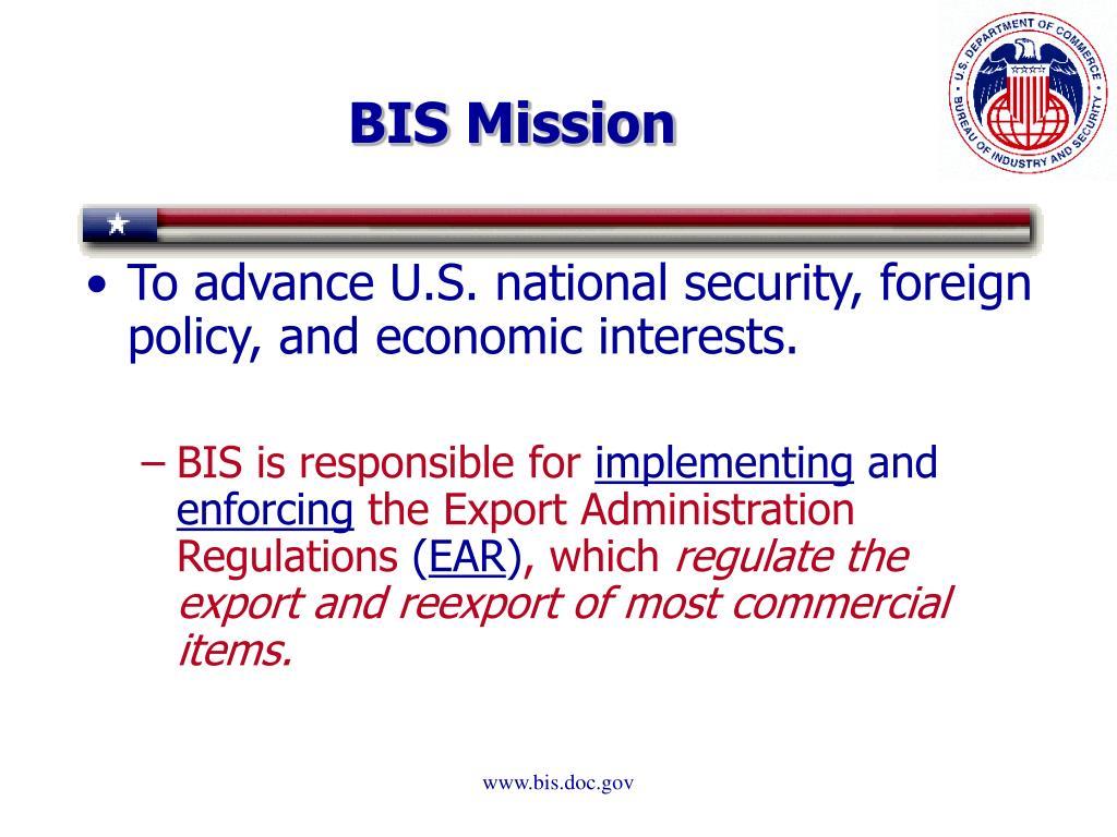 BIS Mission
