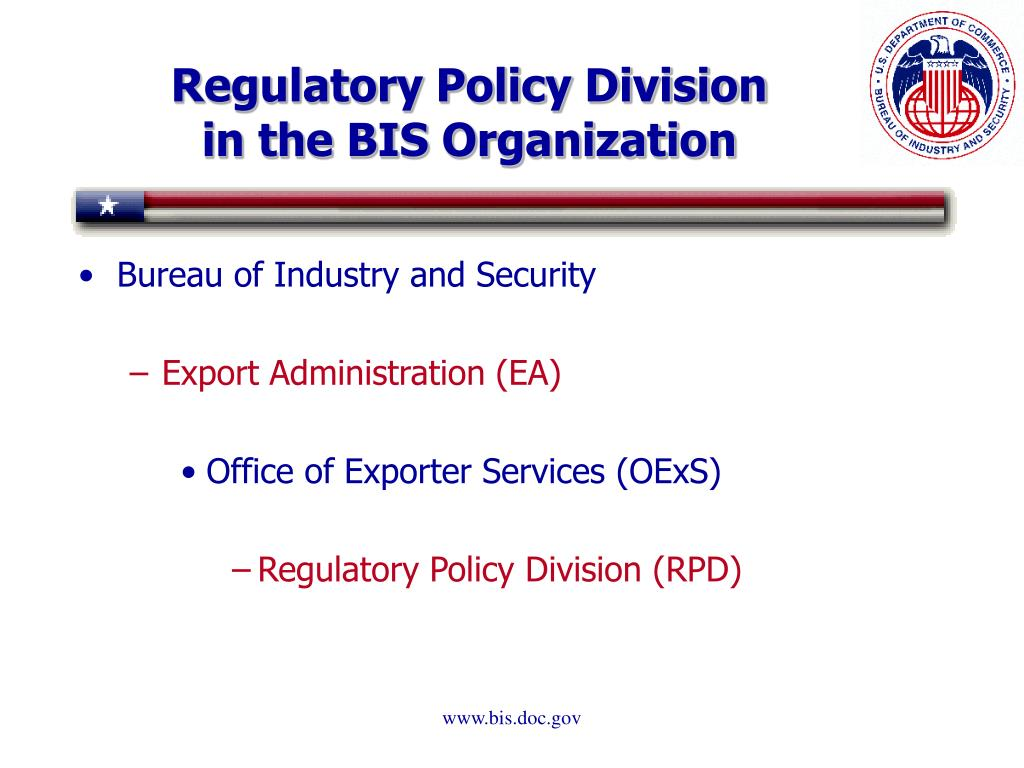Regulatory Policy Division