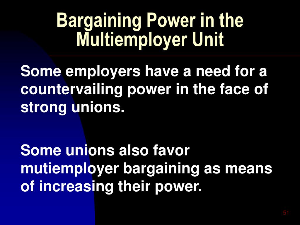 Bargaining Power in the Multiemployer Unit
