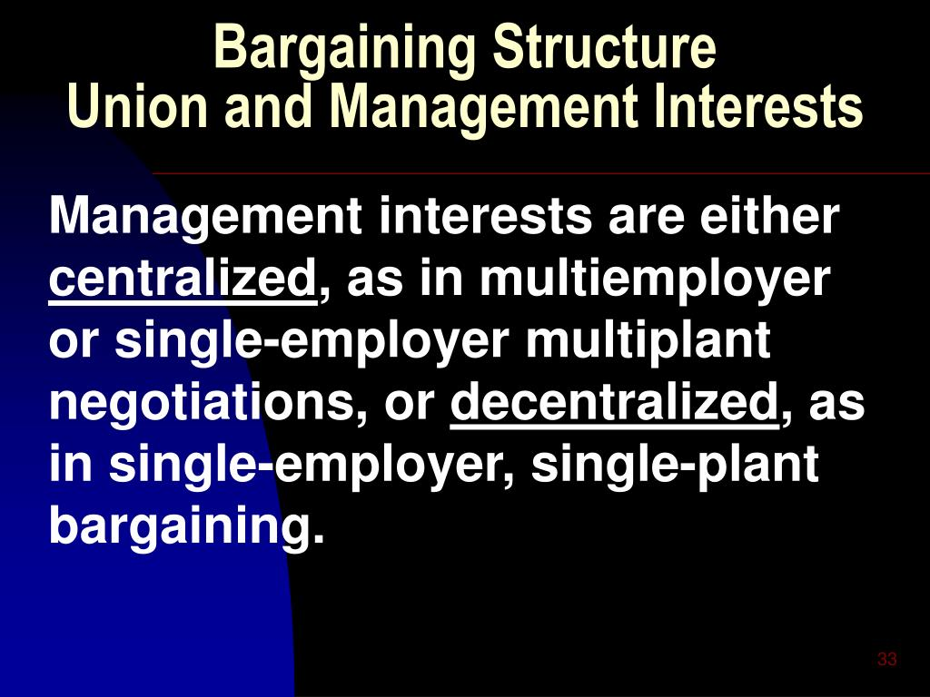 Bargaining Structure