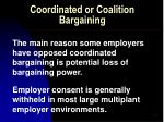 coordinated or coalition bargaining61