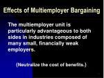 effects of multiemployer bargaining45