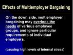 effects of multiemployer bargaining47