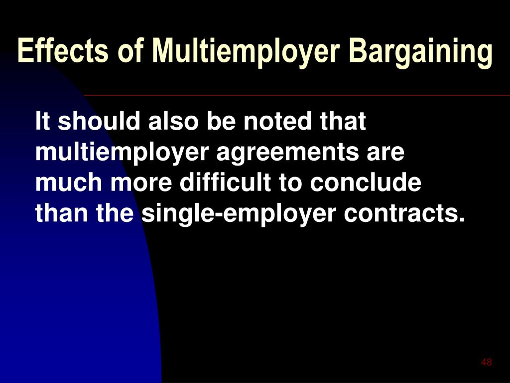 Effects of Multiemployer Bargaining