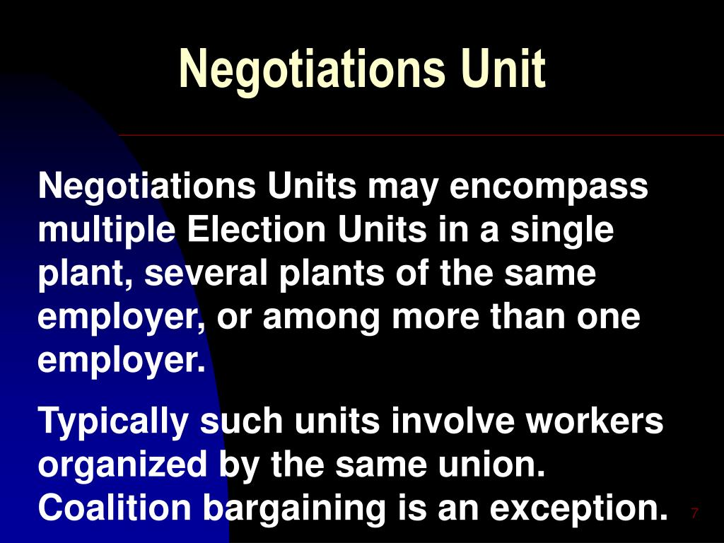 Negotiations Unit