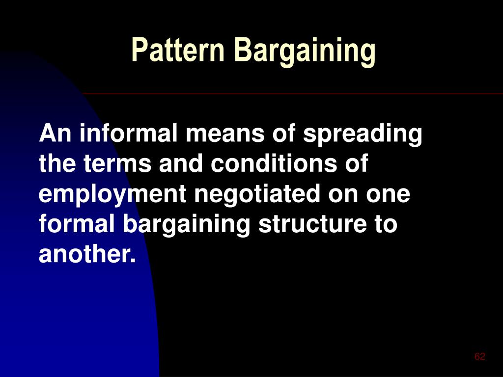 Pattern Bargaining