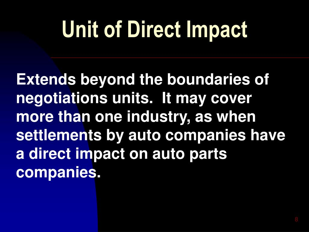 Unit of Direct Impact