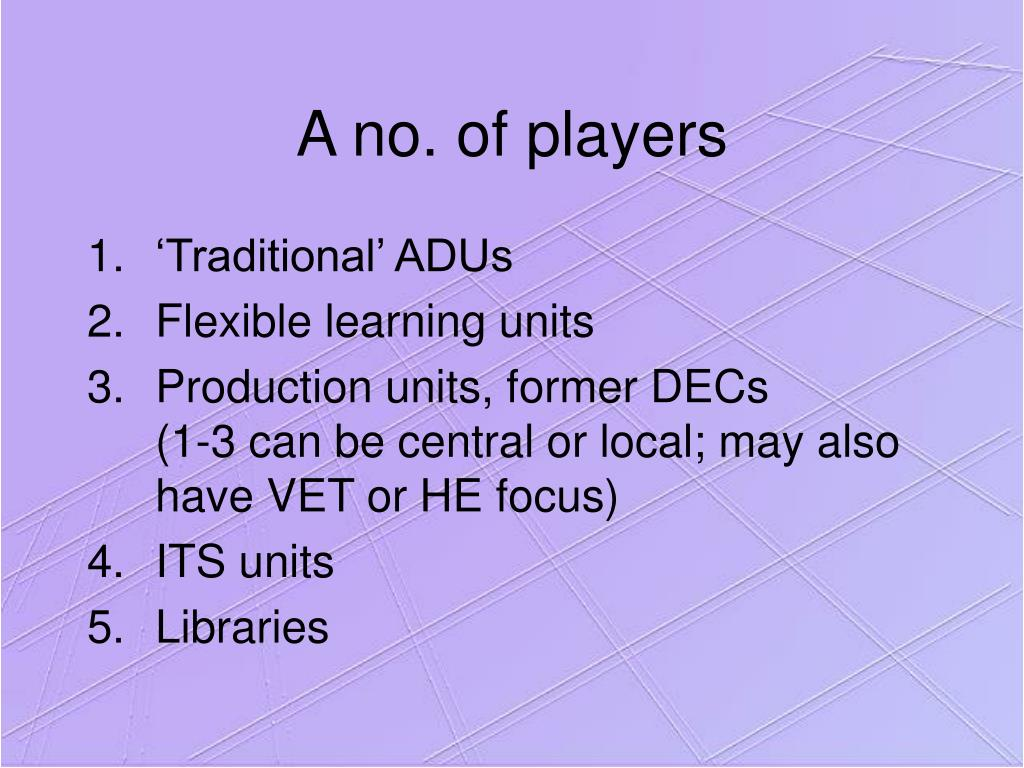 A no. of players