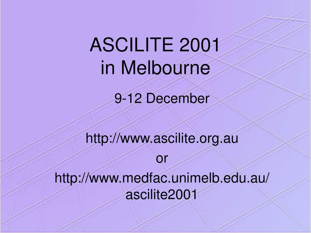 ASCILITE 2001
