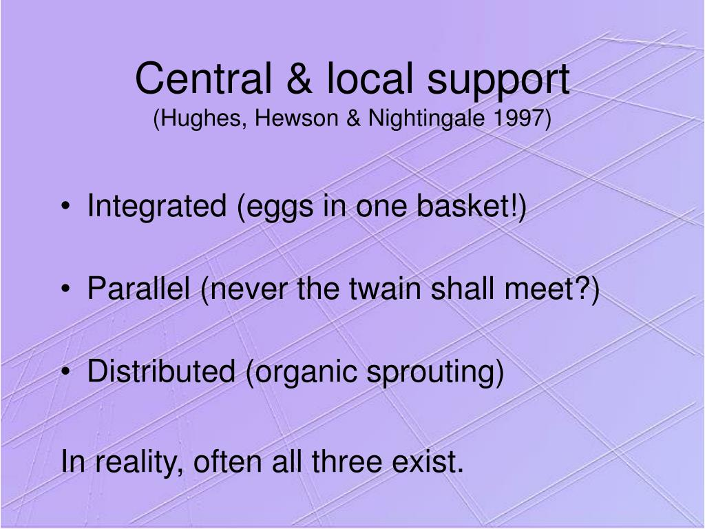 Central & local support