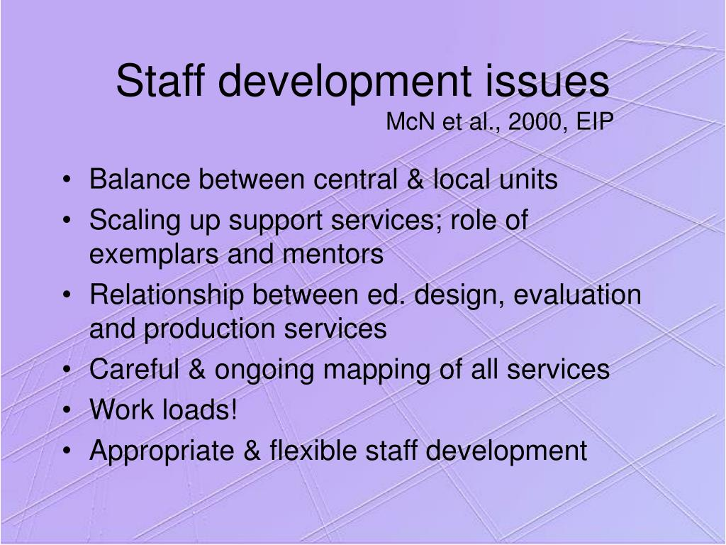 Staff development issues