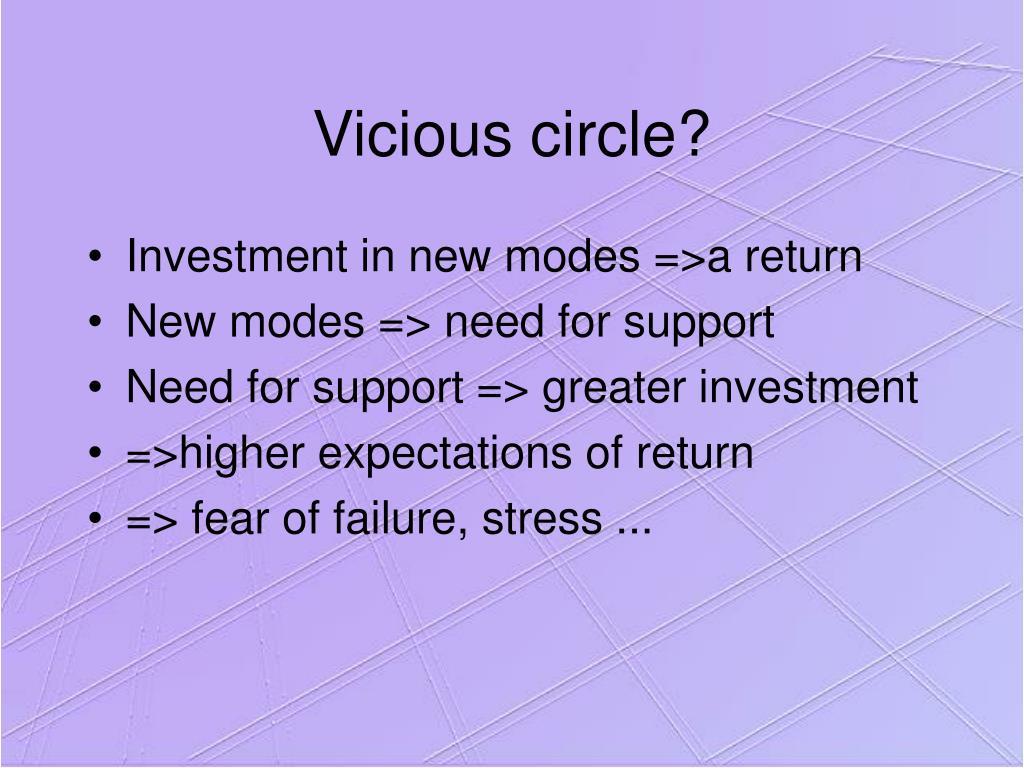Vicious circle?