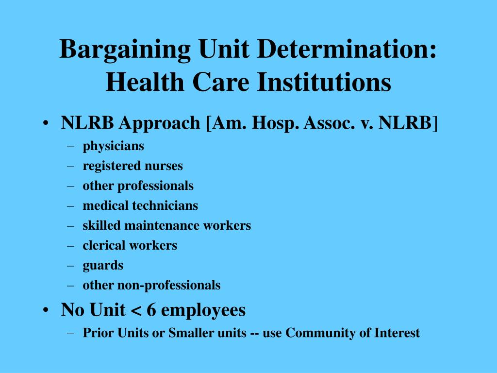 Bargaining Unit Determination:
