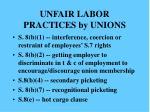 unfair labor practices by unions