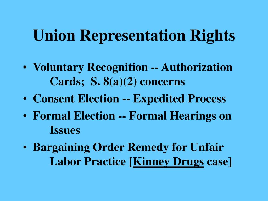 Union Representation Rights