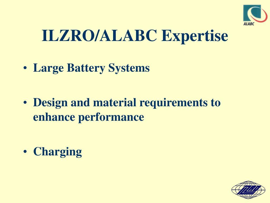 ILZRO/ALABC Expertise