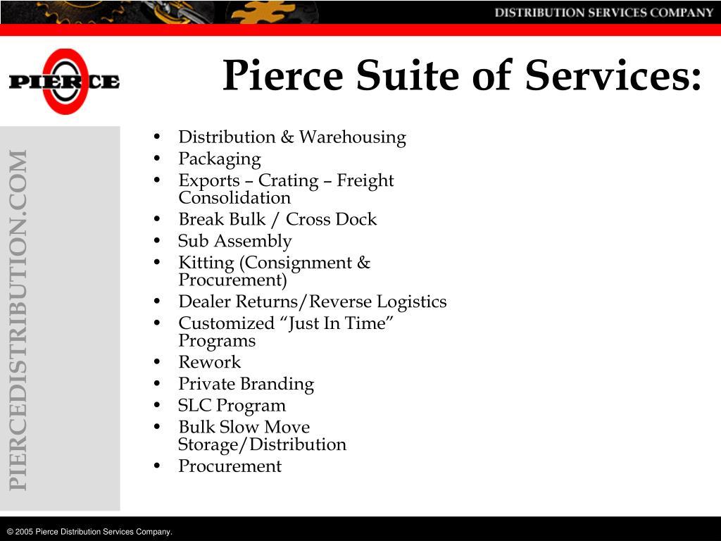 Pierce Suite of Services: