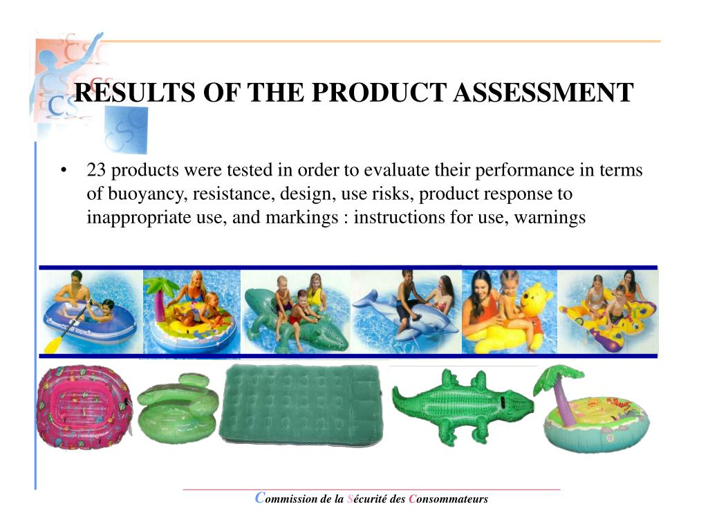 RESULTS OF THE PRODUCT ASSESSMENT