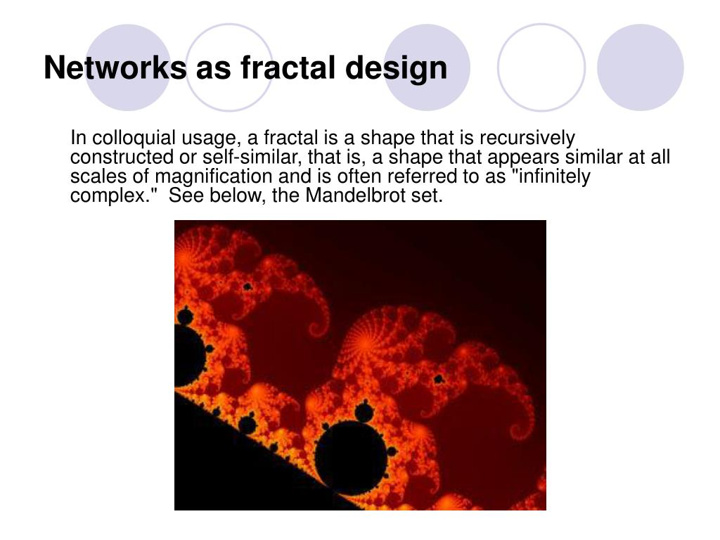 Networks as fractal design