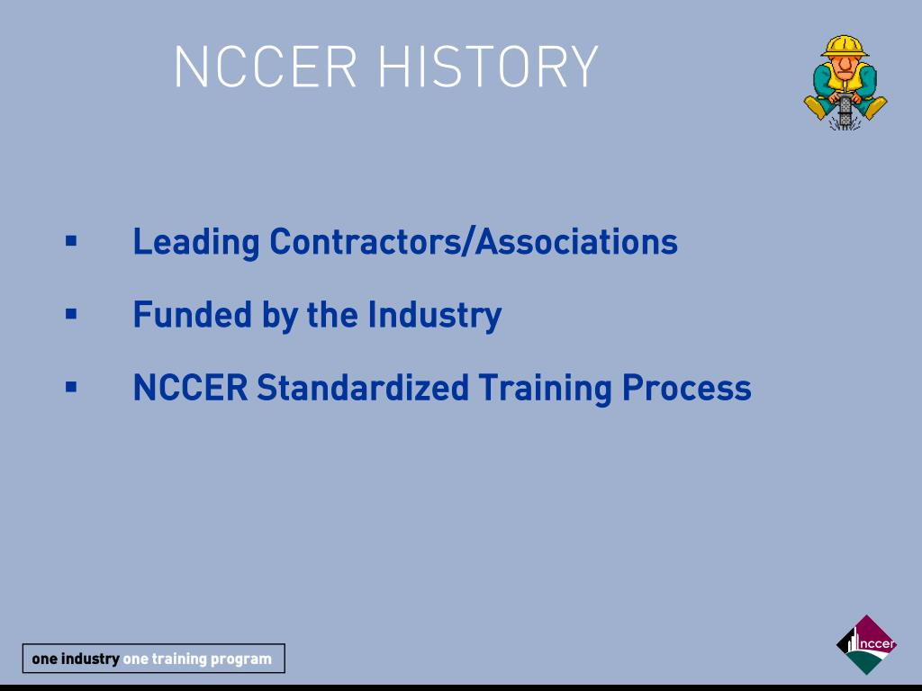 NCCER HISTORY