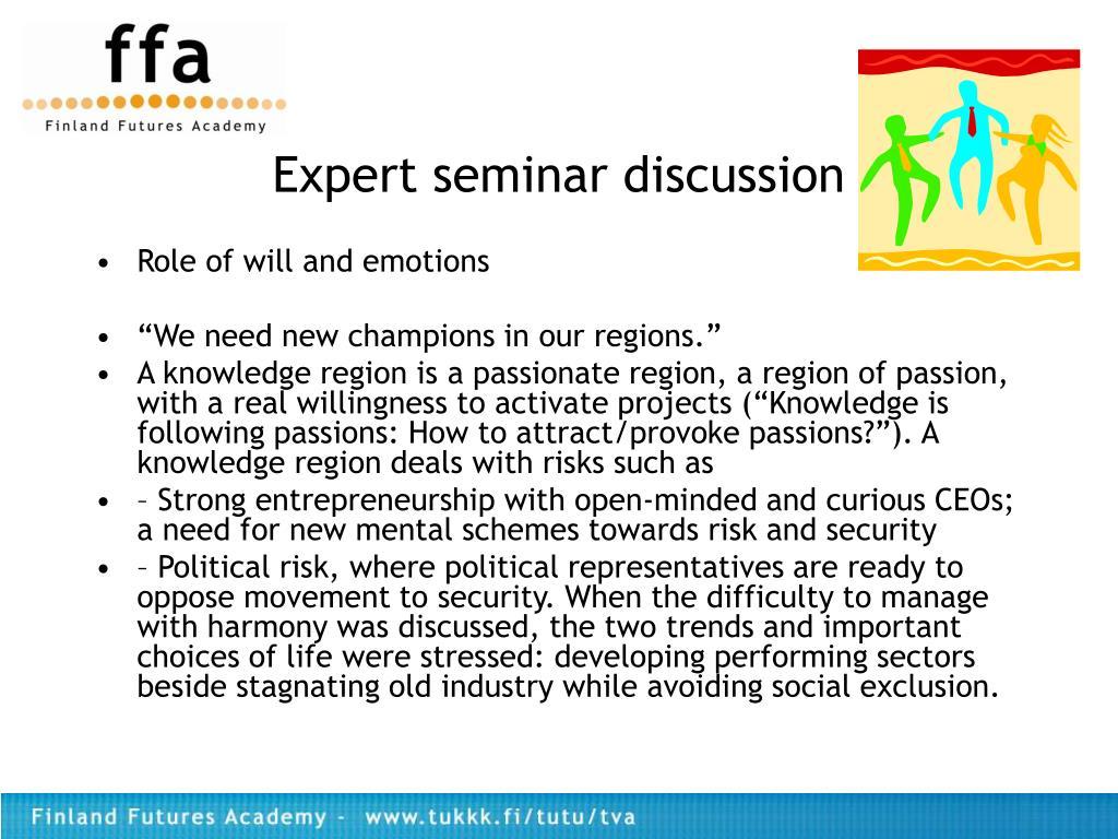 Expert seminar discussion